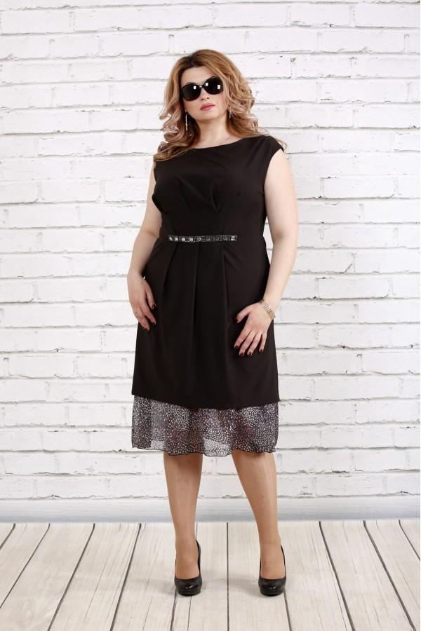 Фото Черное платье без рукавов | 0774-1