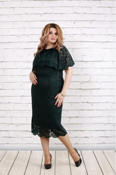 Фото Багате Зелена сукня з гіпюром | 0778-1