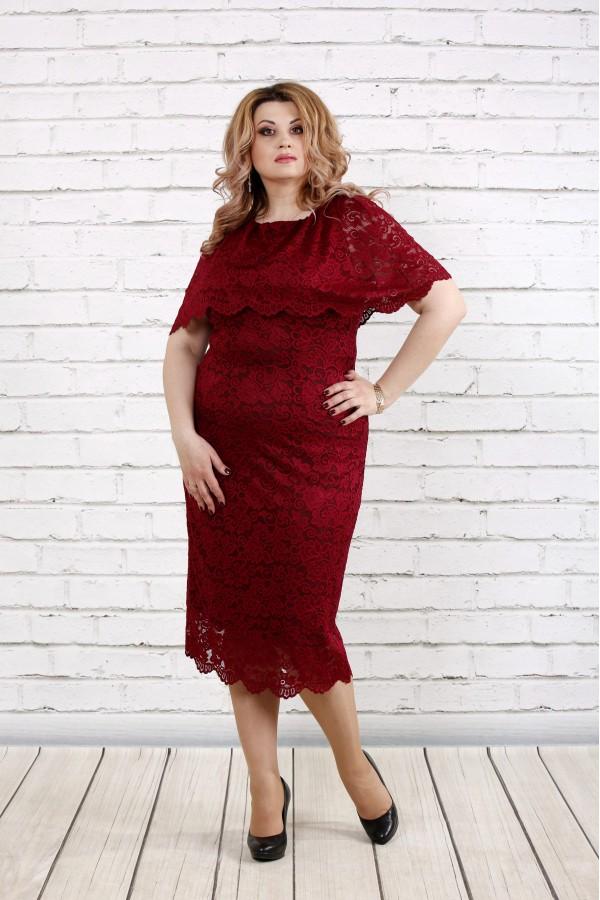 Фото Нарядное платье бордо | 0778-2