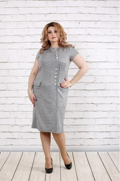 Фото Серое платье с люриксом | 0781-1