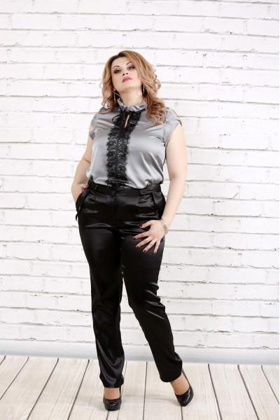 Фото Стальная блестящая блузка | 0785-2
