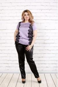 Сиреневая блуза   0786-3