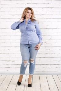 Джинсовая блузка   0787-2