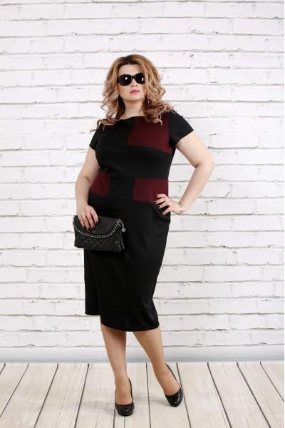 Фото Чорно-Бордова плаття | 0790-2