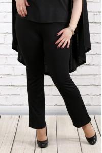Фото Черные трикотажные брюки | b037-1