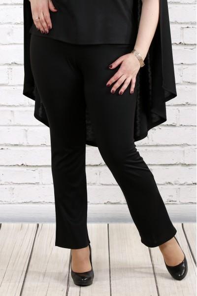 Фото Чорні трикотажні штани | b037-1