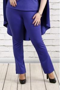 Фото Фиолетовые трикотажные брюки | b037-3