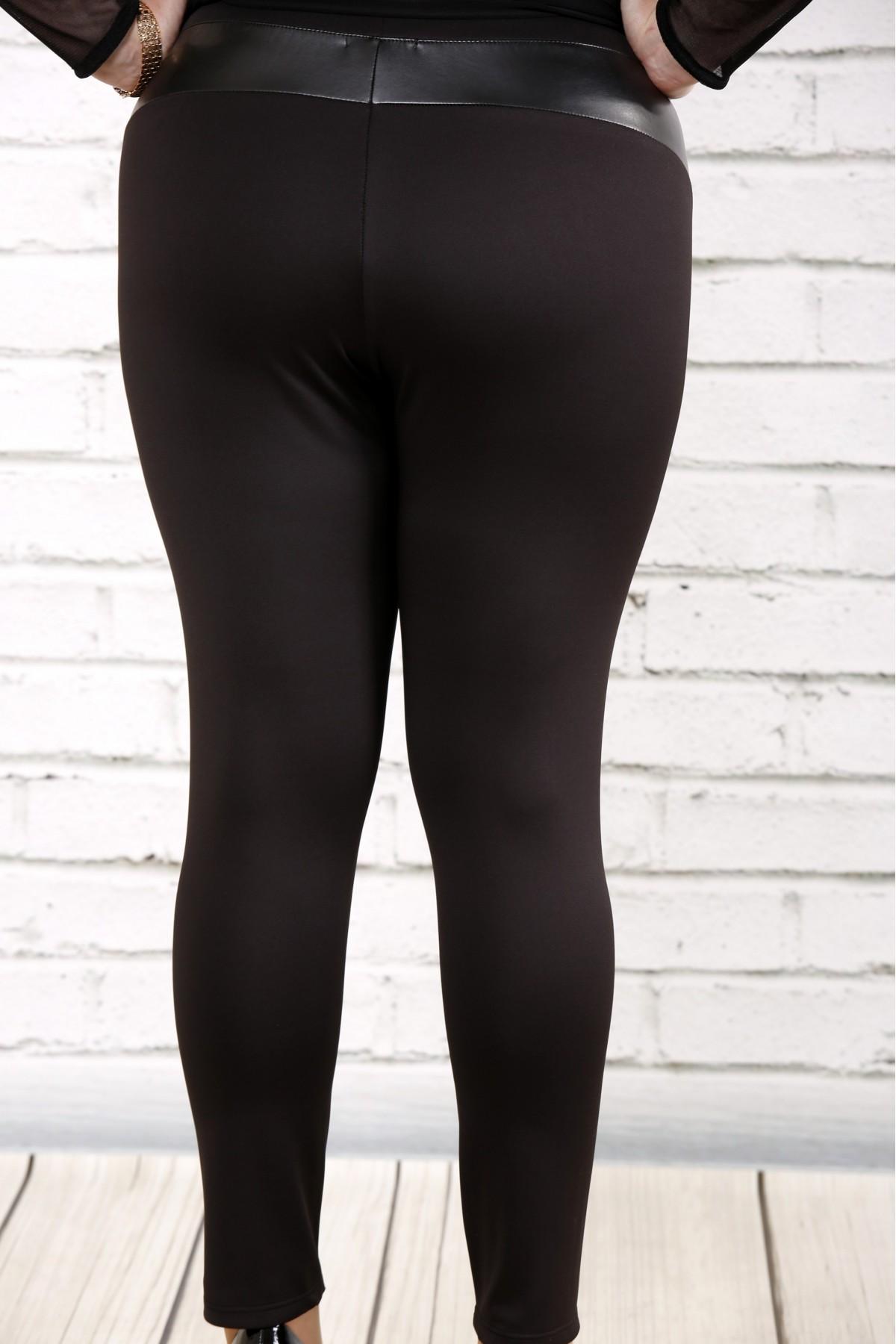 ... Фото Чорні брюки з еко-шкірою  10670dbfec623