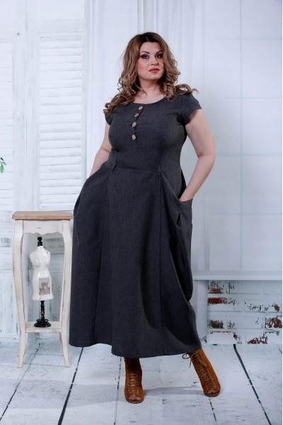 Фото Длинное серое платье | 0804-1