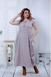 Фото Бежевое красивое платье   0804-2