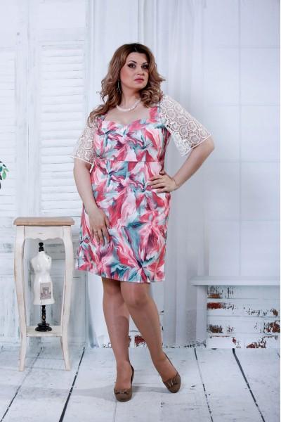 Платье с цветочным принтом | 0806-3