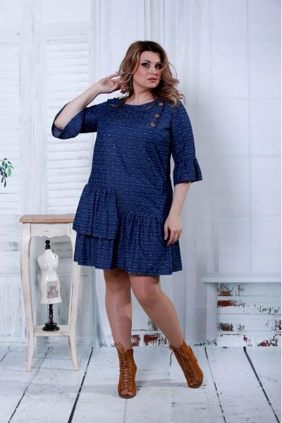 Фото Сукня джинс з білими хвилями | 0808-3