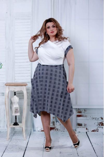 Фото Сіра сукня в клітку | 0812-3