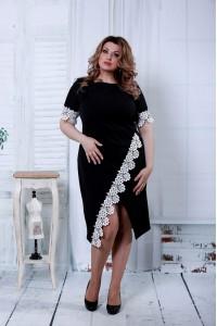 Фото Черное платье с кружевом | 0813-1