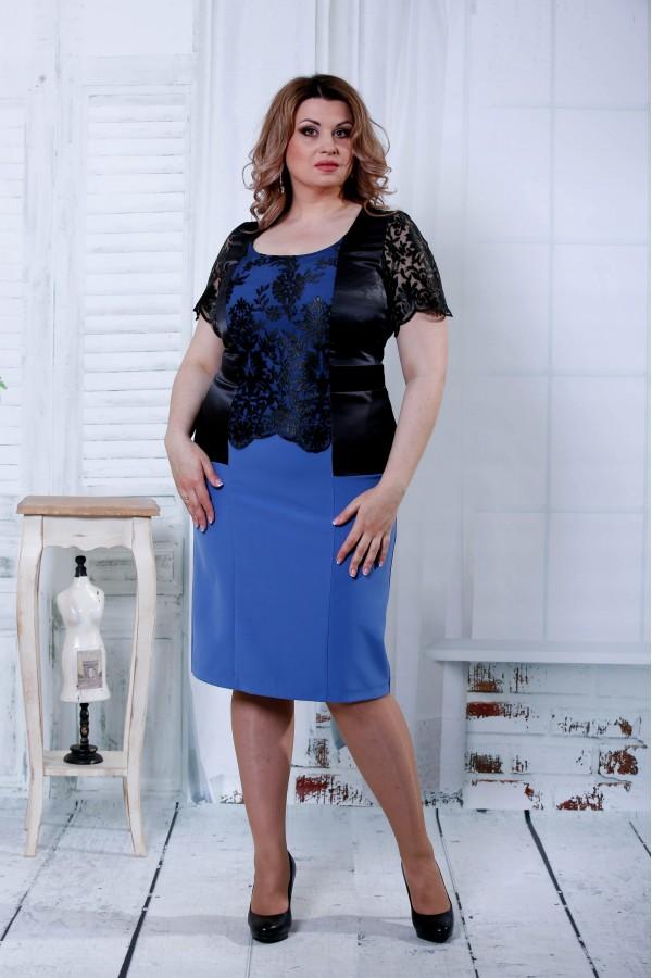 Фото Черное с синим платье  | 0815-1