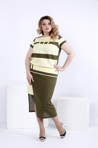 Фото Лимонное легкое платье | 0823-3