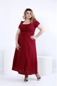 Фото Бордове літнє плаття максі | 0824-1