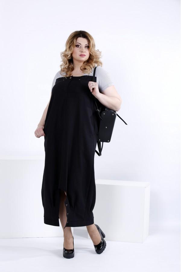 Фото Чорне вільне плаття | 0825-2