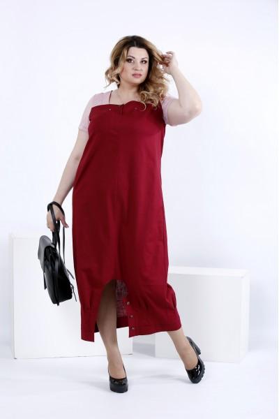 Фото Вільне плаття нижче коліна | 0825-3