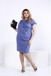 Фото Синее легкое платье выше колена | 0829-2