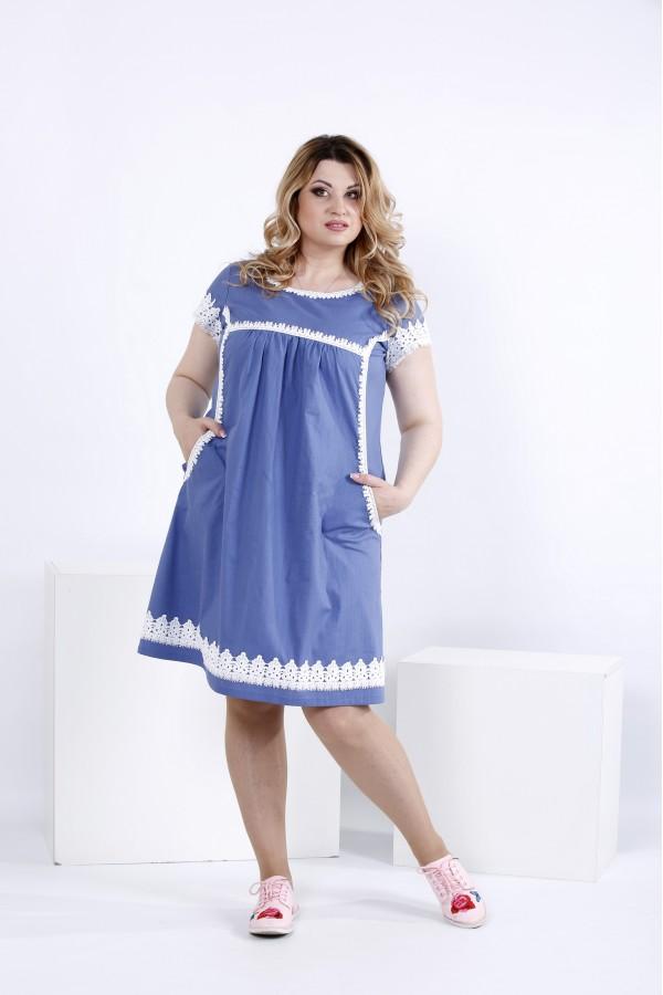 Фото Льняное платье выше колена | 0833-1