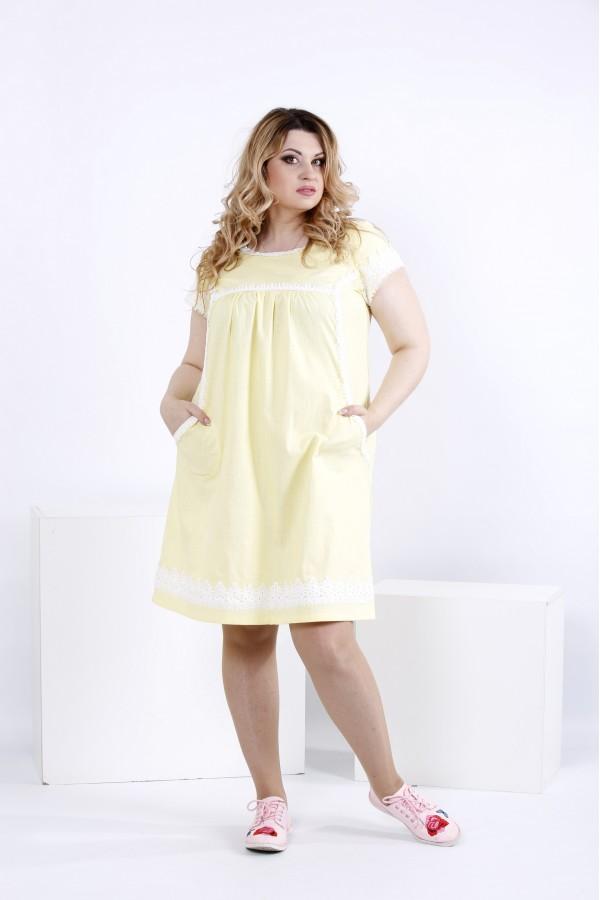 Фото Светлое легкое платье выше колена | 0833-2