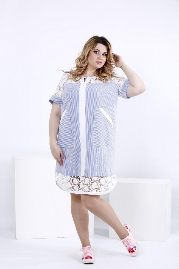 Фото Легкое платье-рубашка | 0835-1