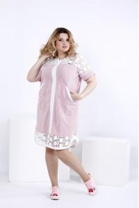 Фото Летнее платье-рубашка с макраме | 0835-2