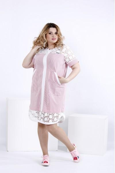 Літнє плаття-сорочка з макраме | 0835-2