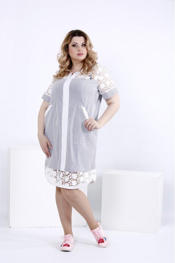 Фото Повітряне плаття-сорочка з кишенями | 0835-3