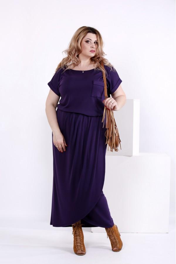 Фото Стильне фіолетова сукня | 0839-2