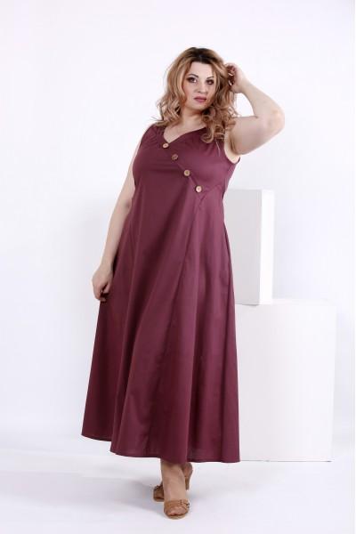 Фото Свободное сливовое платье | 0841-1