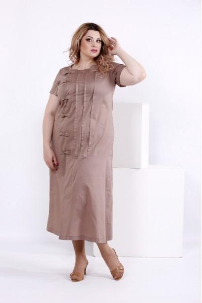 Фото Хлопковое платье мокко | 0842-2