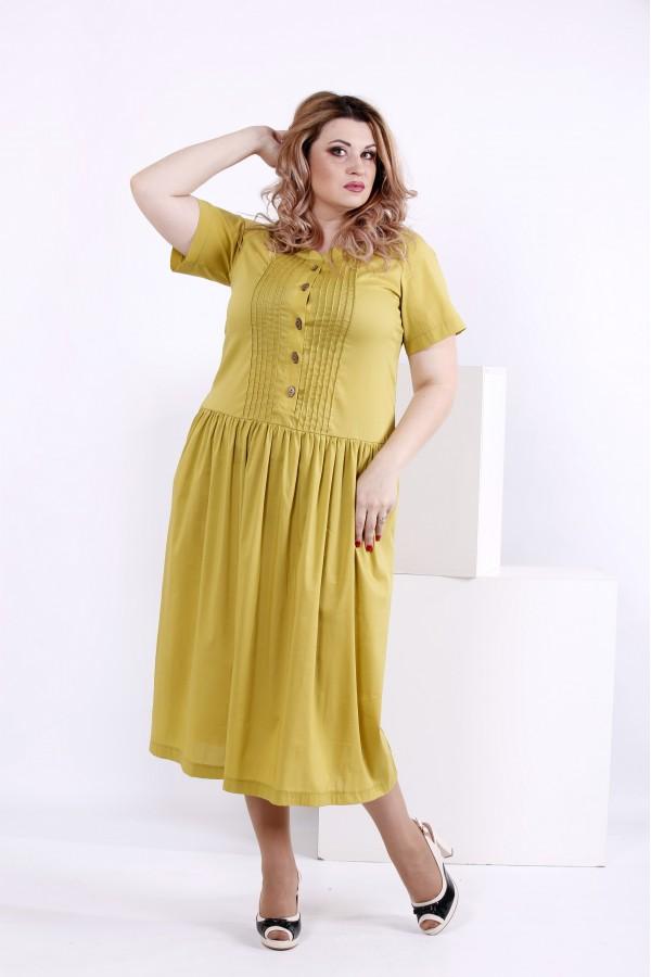Фото Літня жовта сукня | 0845-1