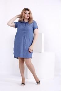 Фото Платье-рубашка принт штрих | 0846-2