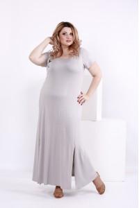 Фото Серое платье из вискозы | 0850-1