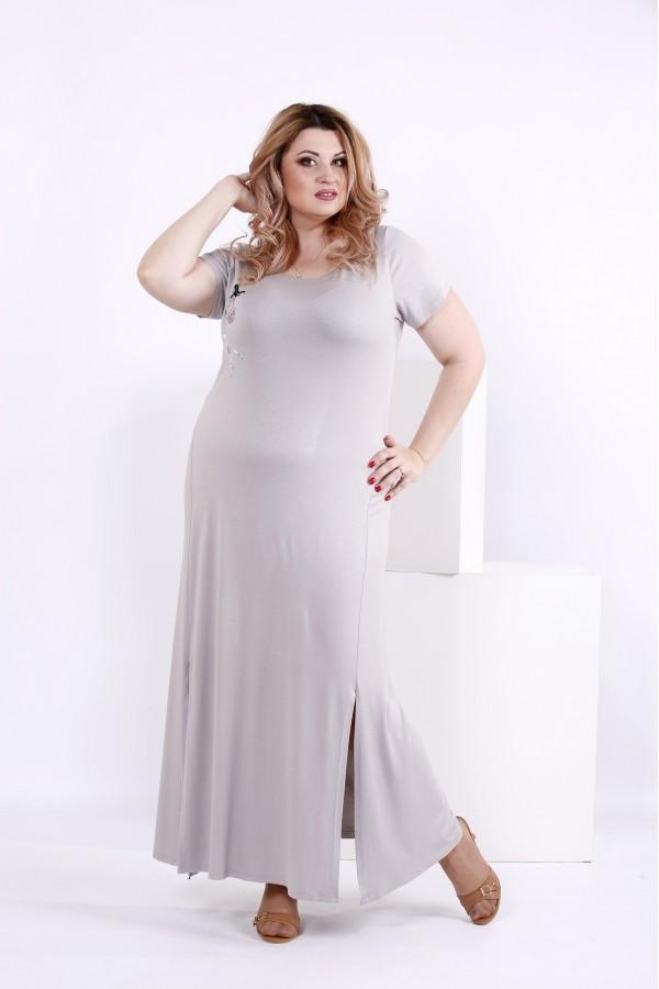 Фото Сіра сукня з віскози | 0850-1