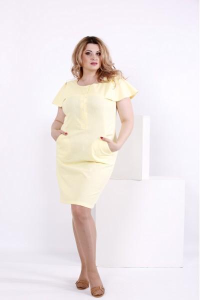 Фото Лляна лимонне сукня | 0852-1