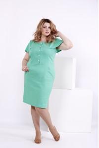 Фото Светло-зеленое платье из льна | 0852-2