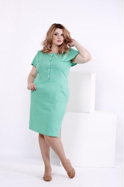 Фото Світло-зелене плаття з льону | 0852-2