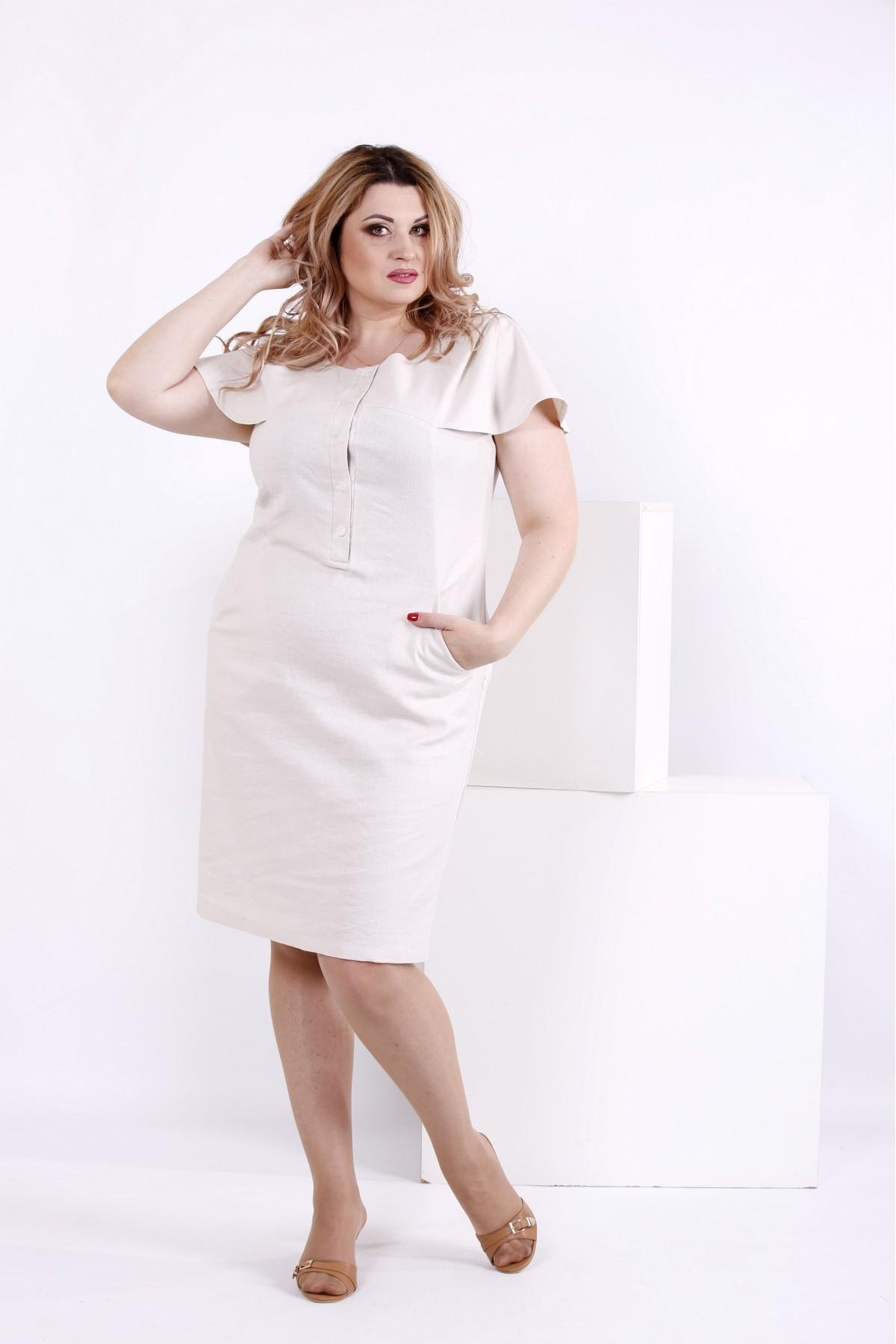 Купити Світле лляне плаття  089b3986dabe1