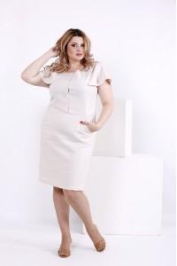 Фото Светлое льняное платье | 0852-3