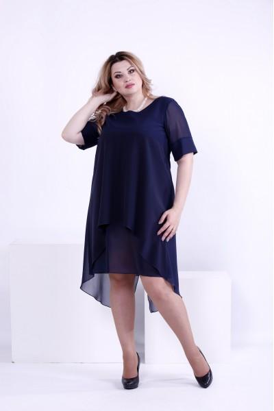 Фото Синє легке плаття | 0860-1