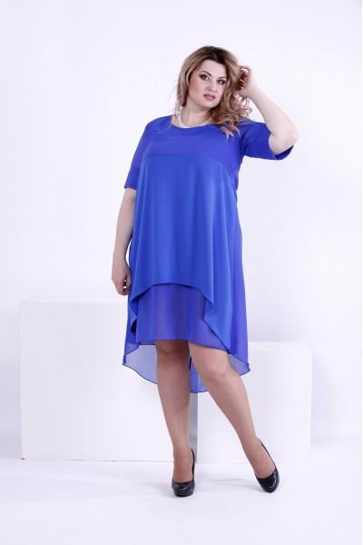 Фото Легке плаття кольору електрик | 0860-3