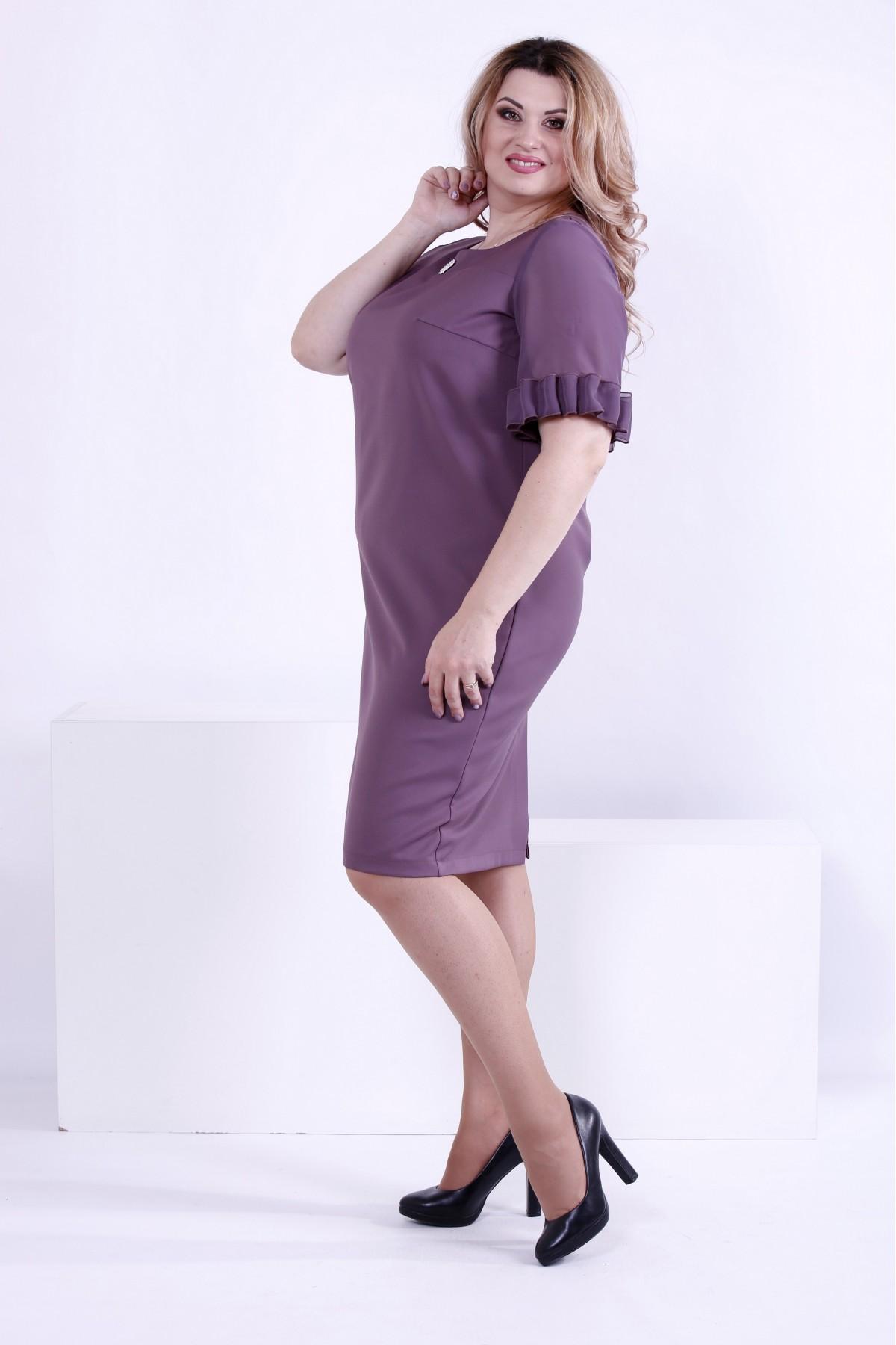 ... Фото Бісквітне вільне плаття до коліна  323c7f2953819