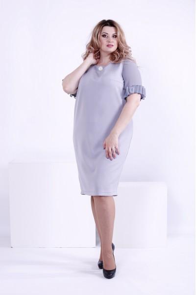 Фото Серое нежное платье на каждый день | 0863-3