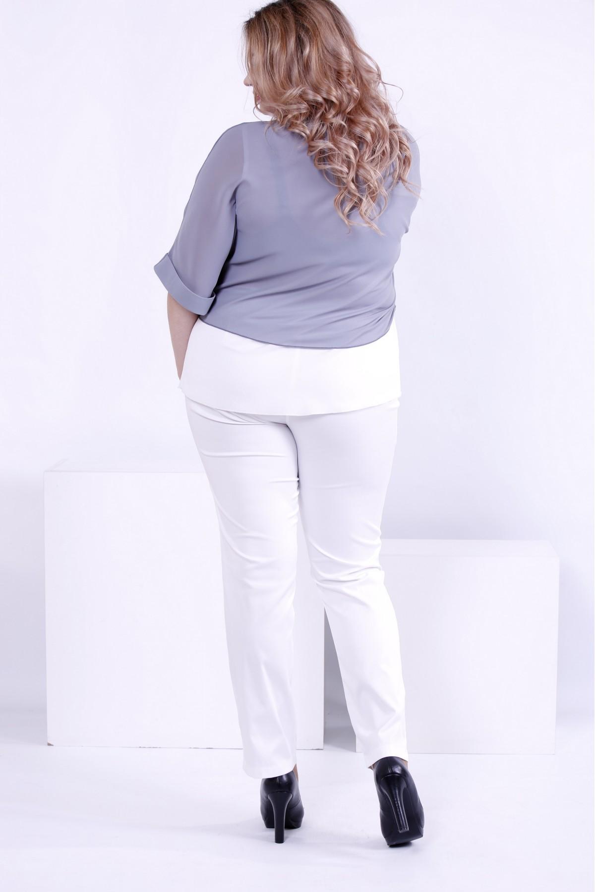 4bc2451e5c9 ... Фото Серая блузка из креп-шифона