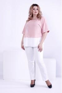 Фото Светлая легкая блузка, очень нежная   0870-3