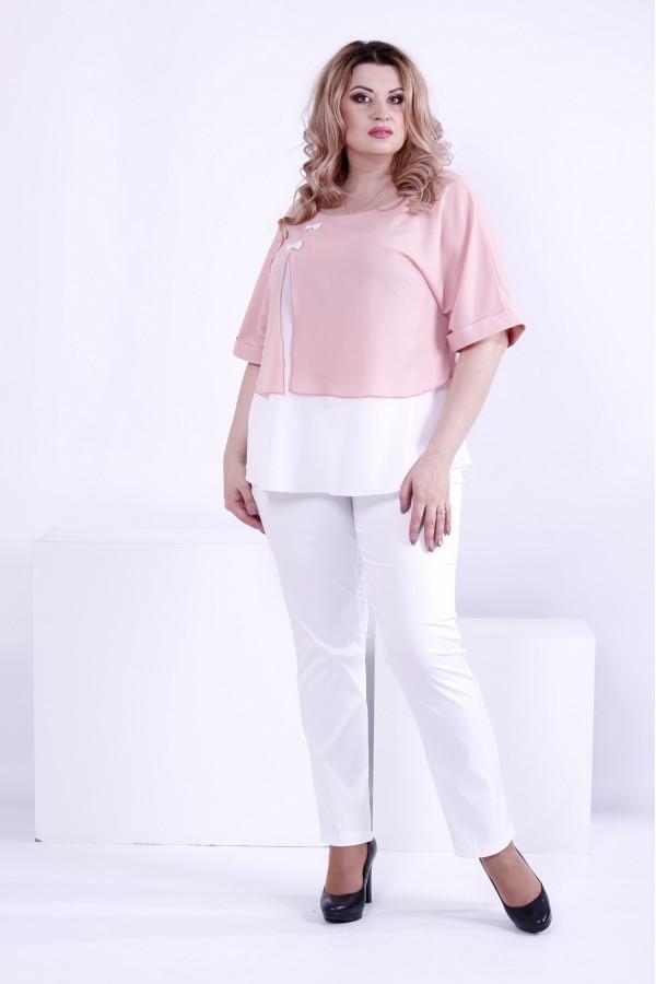 Фото Світла легка блузка, дуже ніжна   0870-3