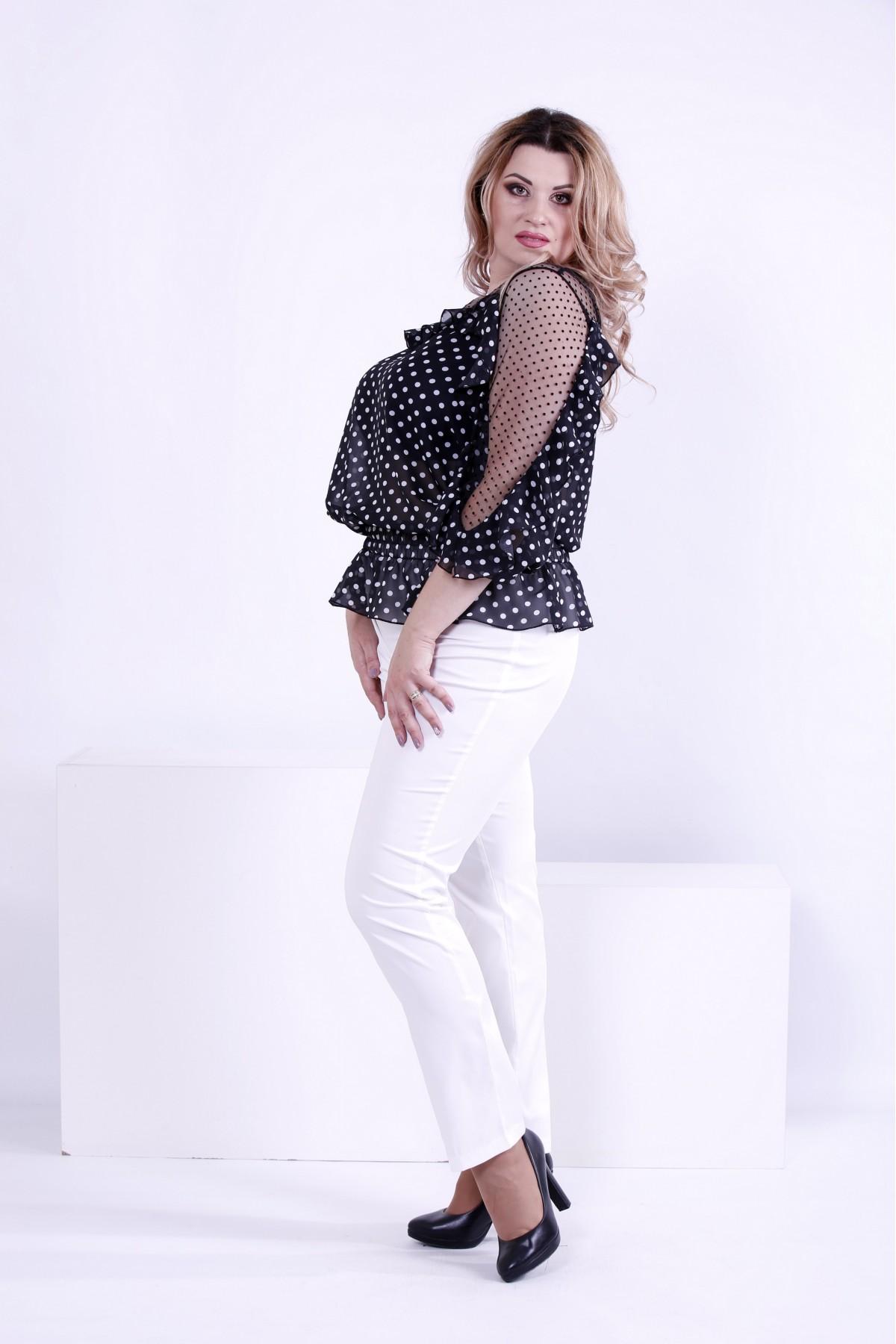 912e4238a07 ... Фото Черная блузка в белый горох